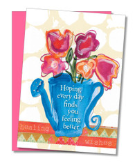 """Feeling Better"" Get Well Card"