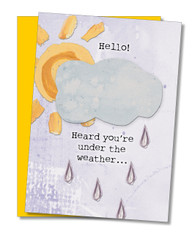 """Under The Weather"" Get Well Card"