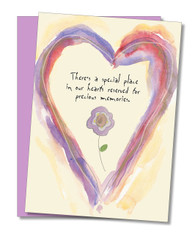 """Special Place In Our Hearts"" Sympathy Card"