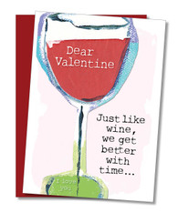 """Like Wine Better With Time"" Valentine's Card"