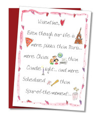 """More Pizza than Paris"" Valentine's Card"
