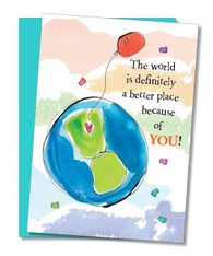 """The World is Better"" Mother's Day Card"