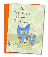 """Person I look Up to"" Father's Day Card"
