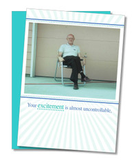 """""""Excitement is Uncontrollable"""" Father's Day Card"""