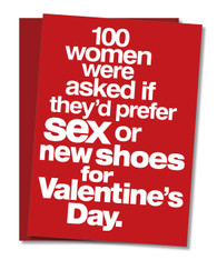 """100 Women were Asked"" Valentine's Day Card"