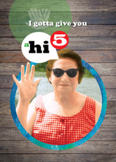 """a hi 5"" Thank You Card"