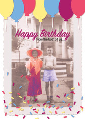 """From the Both of Us"" Birthday Card"