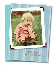 """Just Gonna Sit"" Get Well Card"