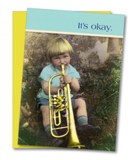 """Boy With Horn"" Congratulations Card"
