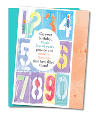 """1 2 3 4 5...."" Birthday Card"