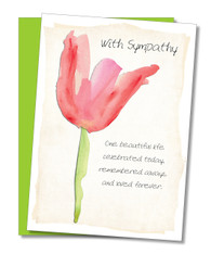 """One beautiful life celebrated today"" Sympathy Card"