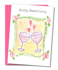 """Cheers to your enduring love"" Anniversary Card"