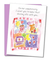 """Sharing life with you"" Anniversary Card"
