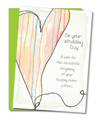"""Happily ever after"" Congratulations Card"