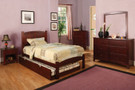 FA7903CH - Cara I Cherry Solid Wood Panel Trundle Bed