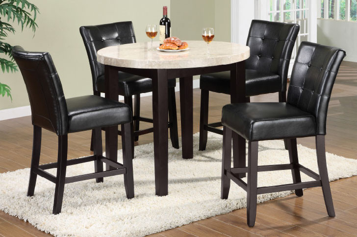 ... 5 Piece Round Counter Height Dining Set. Your Price: $689.00 (You Save  $510.00). Image 1