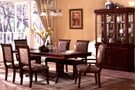 FA3224 -  Gustav Cherry Solid Wood 7 Piece Dining Set