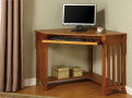 FADK6641 - May Oak Solid Wood Corner Desk