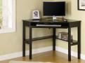 FADK6643 - Porto Black Solid Wood Corner Desk