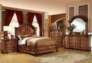fa7738 - Tayce Antique Tobacco Oak Solid Wood Luxurious Platform Bed