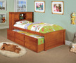 fa7763a - Clove Oak Solid Wood Captain Storage Trundle Bed