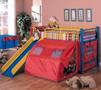 c7239 - Gomez Multi Color Play Space Tent Loft Bed