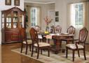 ac11830 - Dannie Cherry Solid Wood Double Pedestal Standard Height Seven Piece Dining Set