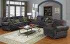 C504401 - LARIO SMOKEY GREY SOFA AND LOVE SEAT
