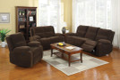 FA6554 - COURTNEY DARK BROWN CLASSIC RECLINING SOFA & LOVESEAT