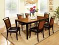 FA3034T - CADEN ACACIA & BLACK SOLID WOOD 7 PIECE CONTEMPORAY STYLE DINING SET