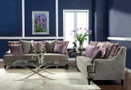 FA2202 - Viscontti Silver Fabric Sofa and Love Seat