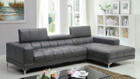 FA6669 - Bourdet II Gray Bonded Leather Match Sectional Sofa