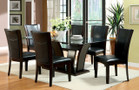 FA3710T - Manhattan I Dark Cherry Finish Solid Wood Padded Leatherette 7 Piece Dining Set
