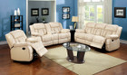 FA6827 - Beal Ivory Reclining Leather Sofa and Love Seat