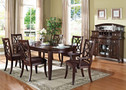 AC60255 -  Keenan Dark Walnut Solid Wood 7 pc. Dining Table
