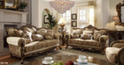 P1 506 - Argentina Ivory Gold Upholstered Sofa And Love Seat