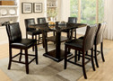 FA3933PT - ASHERA DARK CHERRY 7 PIECE COUNTER HEIGHT DINING SET WITH FAUX MARBLE TOP
