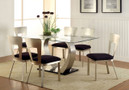 FA3728T - Nova Stainless Steel/Tempered Glass 7 pc Dining Table