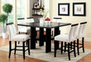 FA3559PT - RAYLEN BLACK 7 PC COUNTER HT. DINING SET WITH LED LIGHTING