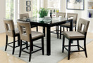 FA3320PT - LEOLA BLACK LACQUER 7 PIECE COUNTER HEIGHT SET