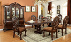 FA3186T - WYNDMERE CHERRY BROWN SOLID WOOD 9 PIECE DINING SET