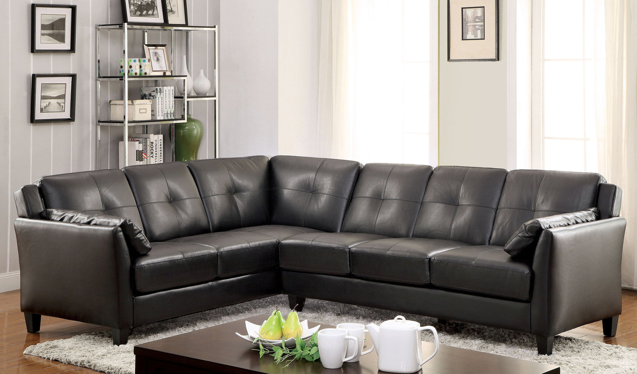Outstanding Fa6268 Peever Leatherette Sectional Sofa Gmtry Best Dining Table And Chair Ideas Images Gmtryco