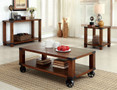FA4227C - Broadus Dark Oak 3 Pc. Coffee Table Set