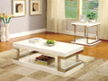 FA4486C - Meda White 3 Pc. Coffee Table Set