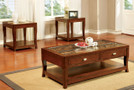 FA4436C - Emmett II Dark Walnut 3 Pc. Coffee Table