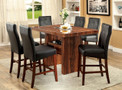 FA3824PT - Derion Cherry/Black Solid Wood 7 pc. Dining Table