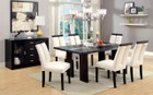 FA3559T - LUMINAR ESPRESSO SOLID WOOD 7 PC. DINING SET WITH LED LIGHTING
