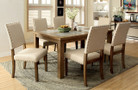 FA3531T - MELTON NATURAL TONE SOLID WOOD 7 PC DINING TABLE