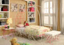 FA7705 - Enchant Pink & White Metal Adult Bed