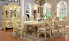 FA3186T - Wyndemere Antique White Wash Solid Wood 9pc Dining Set